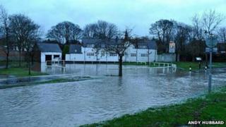 Flooding in Whitburn