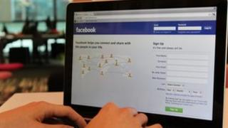 Facebook on a monitor