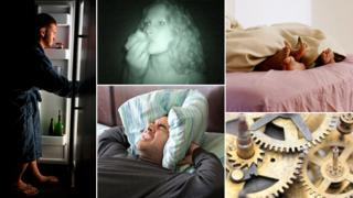 People eating, sleeping and in bed