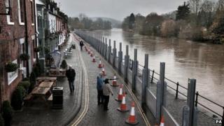 Bewdley flood barriers