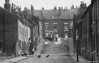 Washday in 1970s Leeds