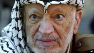 File photo of Yasser Arafat (2004)