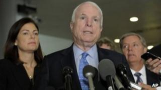 Arizona Senator John McCain in Washington DC 27 November 2012