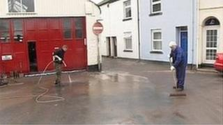 Residents clean-up after the village of Millbrook was flooded