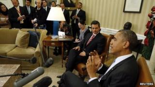 Pena Nieto and Obama at the White House
