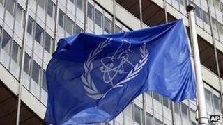 IAEA flag at headquarters in Vienna (file image)