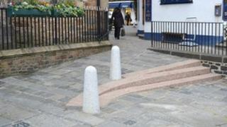 A newly constructed access ramp in St Peter Port