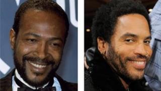 Marvin Gaye and Lenny Kravitz