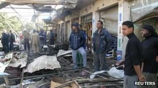 Scene of explosion in Hill, Iraq - 29 Nov 2012
