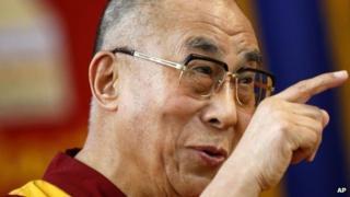 Tibetan spiritual leader the Dalai Lama in Bangalore, India on Tuesday 27 November 2012