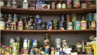 Food banks at the Salvation Army in Douglas