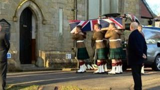 The service was held at Glencorse Kirk in Penicuik, Midlothian