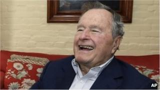 Former US President George H W Bush 1 November 2012