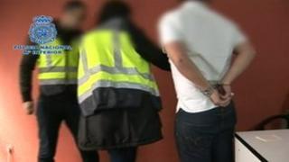 Man under arrest in Spain