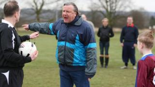 Ray Winstone plays an angry dad shouting at a referee in an advertisement for the FA's respect campaign