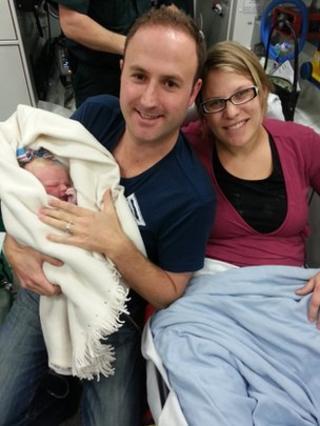 Baby Bella with Gavin and Lisa Barnaby