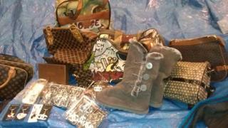 Fake goods seized at the Port of Felixstowe