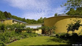 The WISE building at Centre for Alternative Technology in Machynlleth