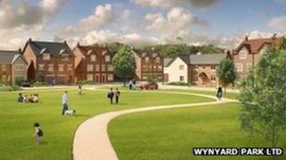 An artist impression of the development