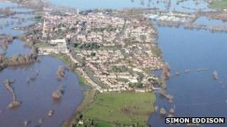 Upton-upon-Severn area on Thursday (pic: Simon Eddison)