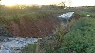 Breach in Grand Western Canal