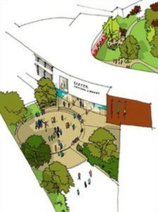 Artist's impression of new library