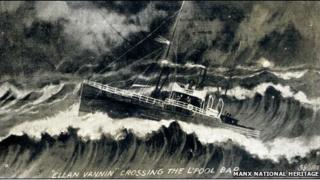 An artists impression of the Ellan Vannin