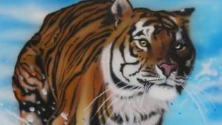 A painting of a tiger