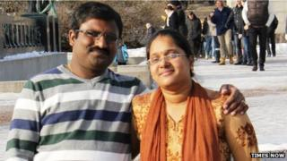 Chandrasekhar Vallabhaneni and his wife Anupama