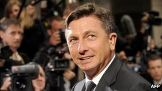 Borut Pahor, pictured on 7 May 2010 at an EU summit in Brussels, when he was Slovene prime minister