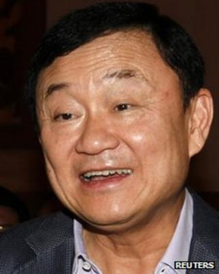 Former Thai Prime Minister Thaksin Shinawatra file photo.