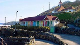 Beach huts in Scarborough