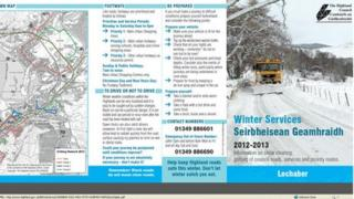 Gritting map