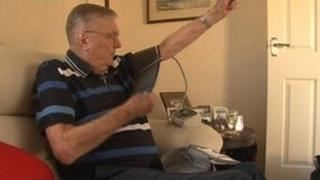 Michael Howard uses TelemonitoringNI to check his own blood pressure at home