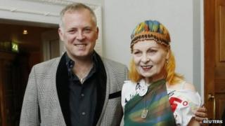 Dame Vivienne Westwood and her son Joe Corre