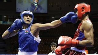 Indian boxer Vijender at London OLympics