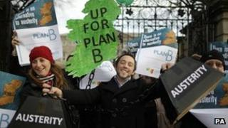 Irish anti-austerity protesters