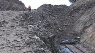 Waste filling Imberhorne cutting