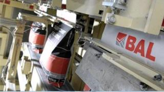 Inside the Building Adhesives Ltd factory in Stoke-on-Trent