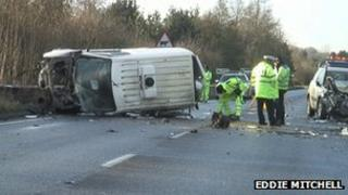 Crash site at Cuckfield
