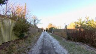 Path where pensioner found