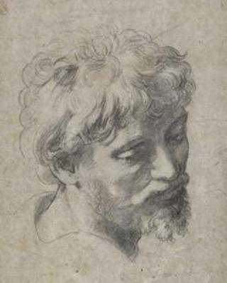 Head of an Apostle (c.1519-1520), by Raphael