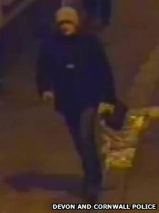 CCTV image of Barnstaple armed robbery suspect