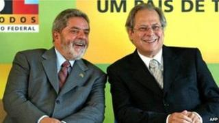Lula (left) and Jose Dirceu (r), archive photo