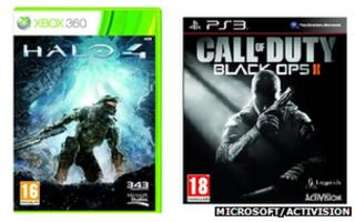 Halo 4 and Call of Duty: Black Ops 2