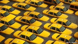 New York cabs swamped by the tidal surge from Storm Sandy