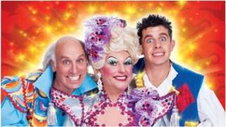 Poster for Aladdin at Newcastle Theatre Royal