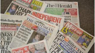 A selection of newspapers