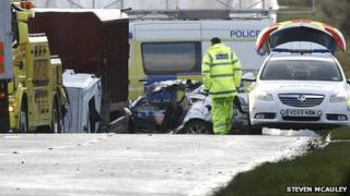 Road traffic collision in County Londonderry
