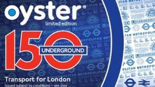 Tube anniversary Oyster card